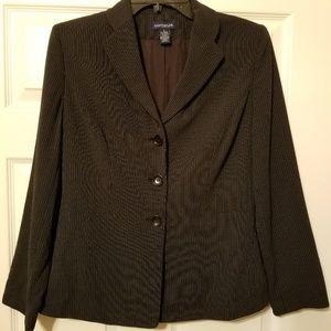 Ann Taylor dress striped coat size 6